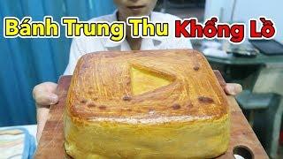 Làm Bánh Trung Thu Khổng Lồ Hình Nút Play Vàng Youtube - Cho Cả Xóm Ăn | Lâm Vlog