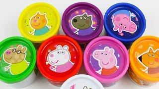 Play Doh Cans Surprise Eggs Peppa Pig doug toys Pepa Egg thumbnail