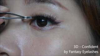 eye make up with Majolica Majorca Jeweling Pencil (3D eyelahses)