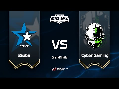 ESuba Vs Cyber Gaming @ Finále Hitpoint Masters #13 GAME 1