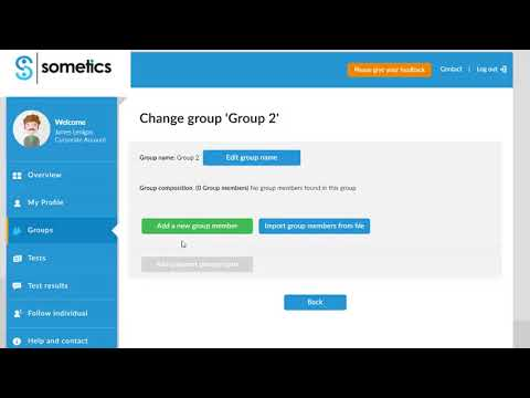 Introduction to Sometics - Create Groups