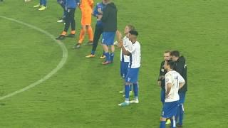 Stimmung nach Abpfiff 1. FC Magdeburg vs. Borussia Dortmund 24.10.17 DFB Pokal