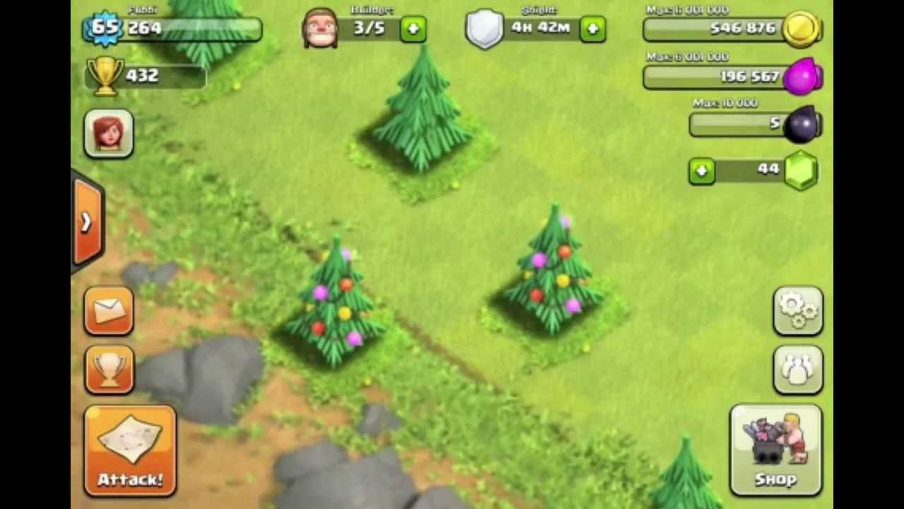 Clash Of Clans First Ever Christmas Tree Farmer Youtube