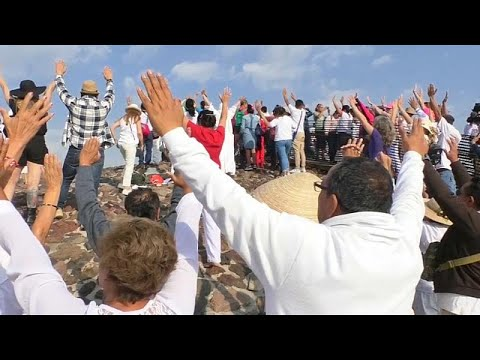 شاهد: فصل الربيع يبدأ من هرم الشمس في المكسيك  - نشر قبل 3 ساعة