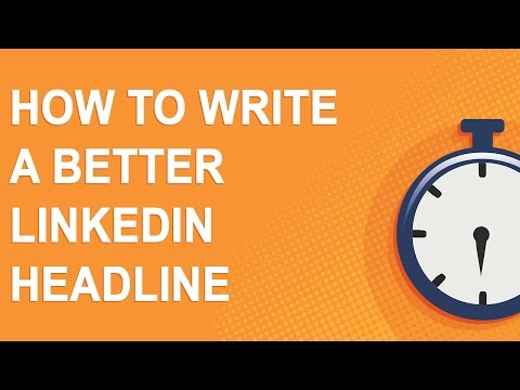 Create a perfect headline for your LinkedIn profile in 4 minutes! from YouTube · Duration:  3 minutes 50 seconds