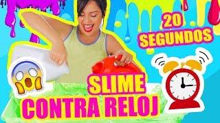 SLIME CONTRA RELOJ! ALABAO! RETO EXTREMO Haciendo Slime MUY RAPIDO - SandraCiresArt thumbnail