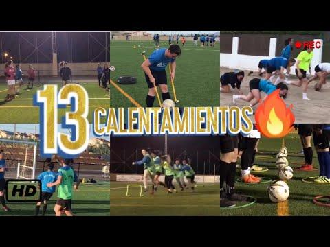 13 EJERCICIOS   CALENTAMIENTOS DE COLECTIVO   ENTRADA EN CALOR   DIVERTIDOS   LÚDICOS