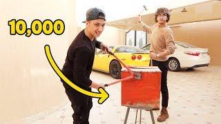 اللي يفتح الصندوق ياخذ 10,000 ريال سعودي ( مستحيل ينفتح ) !!!