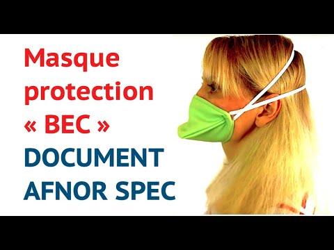 MASQUE de PROTECTION bec / Document AFNOR SPEC