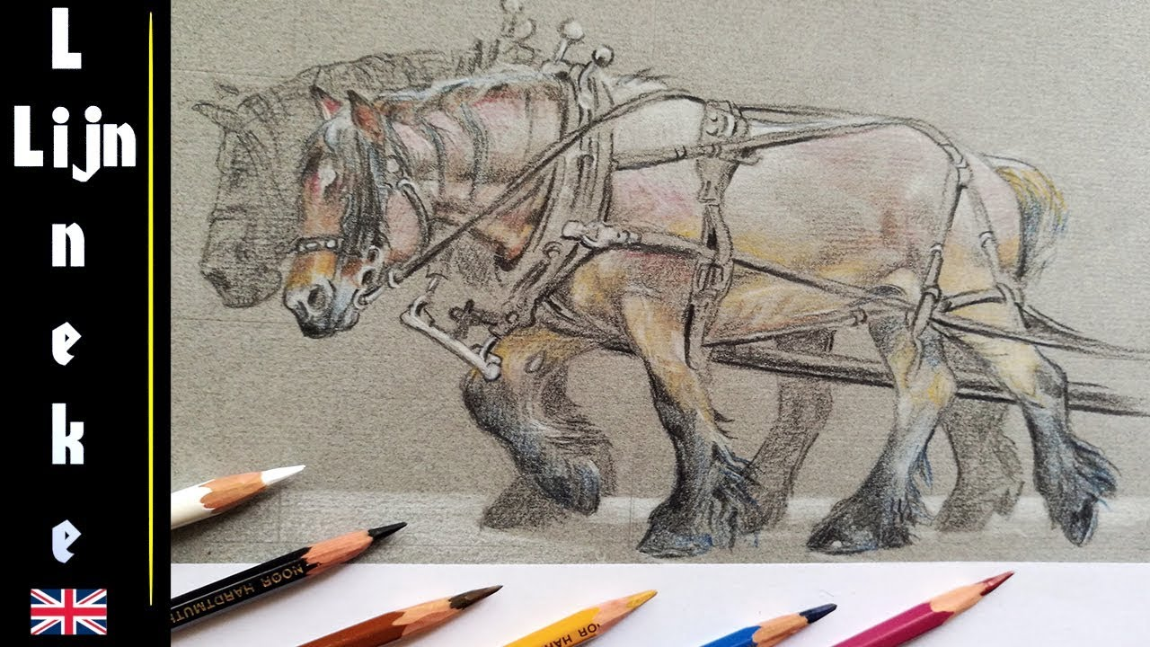 Easy HARNESS for beginners pencil drawing - YouTube