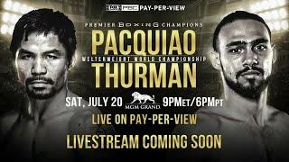 Pacquiao vs Thurman - PBC on FOX PPV Press Conference