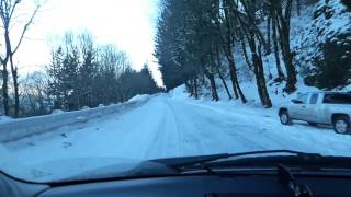 Winter driving in the gorge Jan 14th 2017