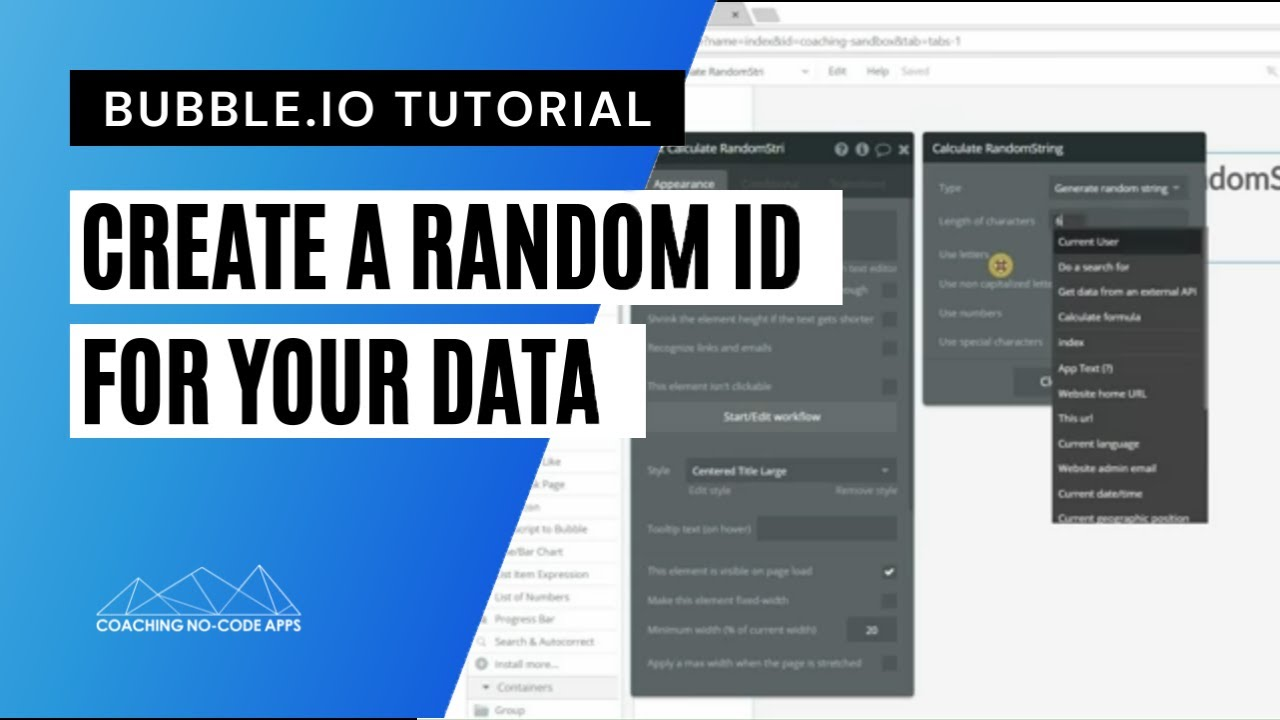 Create a Random ID for your Bubble is Data