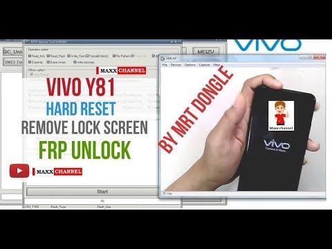Vivo 1803 y81 pin lock pattern lock frp done by mrt dongle