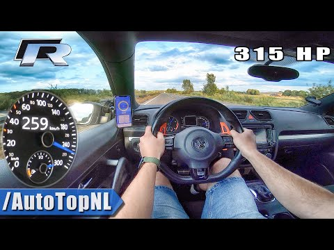 VW Scirocco R 2.0 TSI 315HP TOP SPEED on AUTOBAHN by AutoTopNL