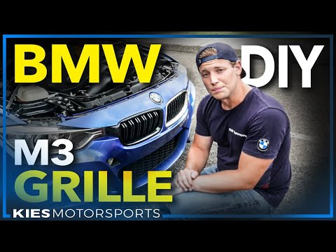 BMW M3 Style Grill / Grille Install! How to remove and install a Grille on: F30, F10, F15, F25, F80