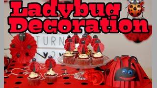 Ladybug Diy Decoration Part 2 | Diy Fun With Kids | Ladybug Table Decoration Idea |