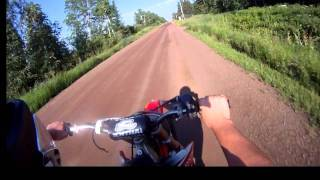 2003 cr250r GoPro HD test (short road ride)