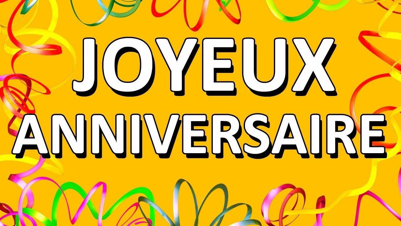 Happy Birthday French Version Youtube