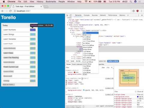 BR1 - Week2 Day2 Part3 - Using Chrome's Inspector For HTML & CSS