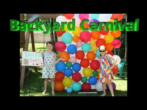 Backyard Carnival Party!