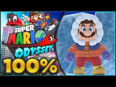 Super Mario Odyssey - Snow Kingdom 100% All Moons & Coins! [🔴LIVE]