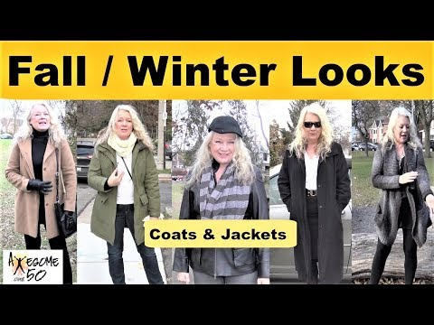 My Top 5 Winter & Fall Fashion, Coats, Jackets Lookbook, Mature over 50 Women