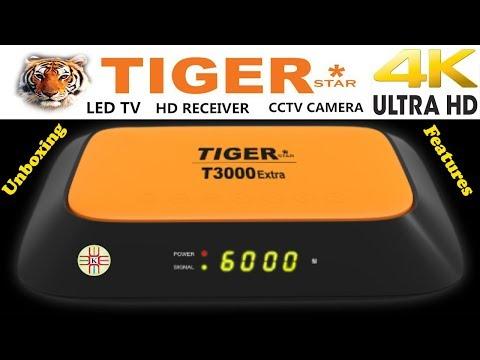 Tiger T3000 Extra 4k UHD Digital Satellite Receiver Unboxing+Price+