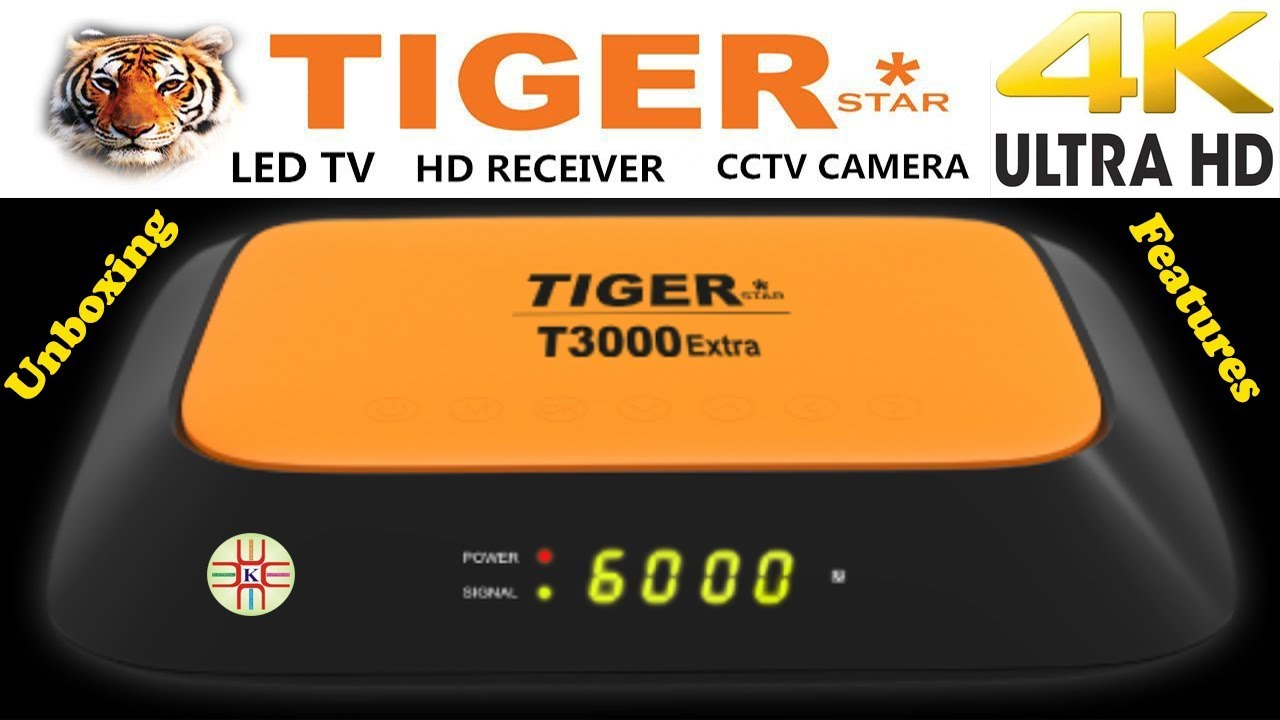 Tiger T3000 Extra 4k UHD Digital Satellite Receiver Unboxing+Price+Features  Detail in Urdu/Hindi