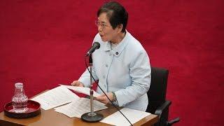 平成29年2月定例会 総括審査会の模様 自由民主党 柳沼純子委員.