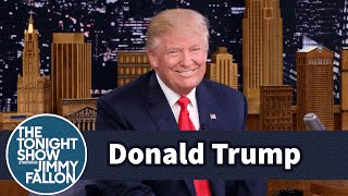 Donald Trump Talks Media Coverage, Polls and His Vocal Transformation