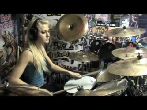 Chick drummer playing along to ForgivenDisturbed