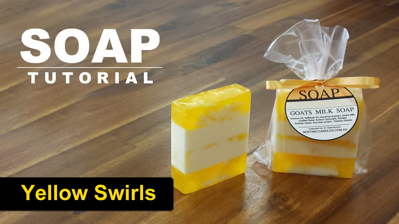 Yellow Swirls, Melt and Pour Soap Tutorial