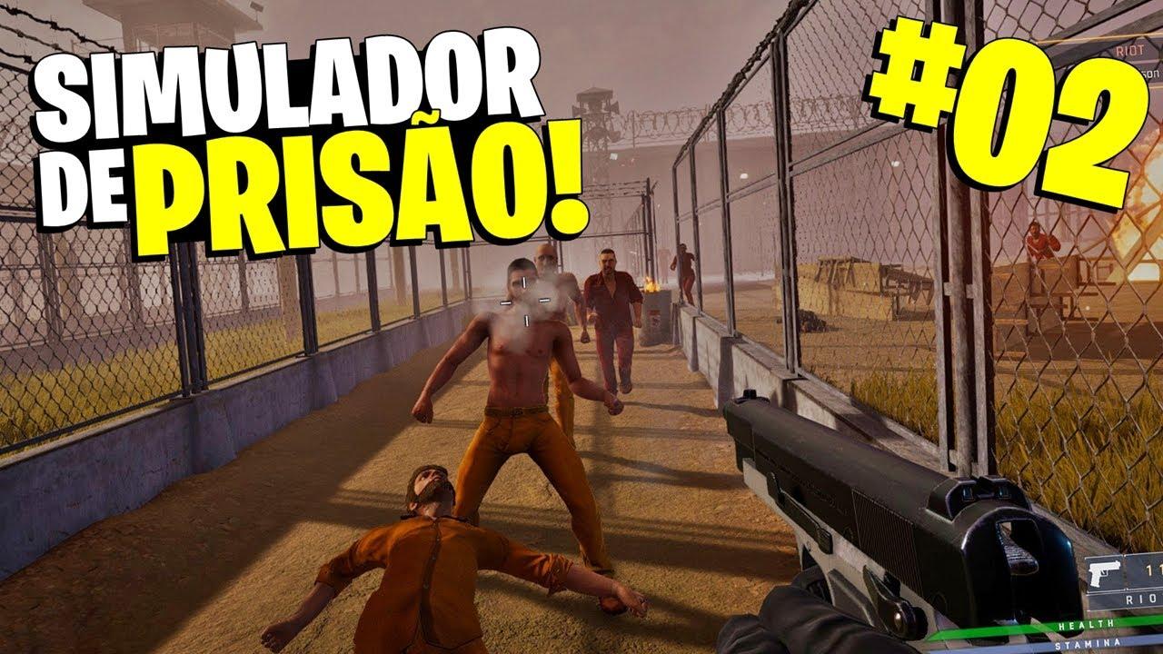 REBELIÃO DOS PRESOS! BOTARAM FOGO NA PRISÃO! - Prison Simulator #02