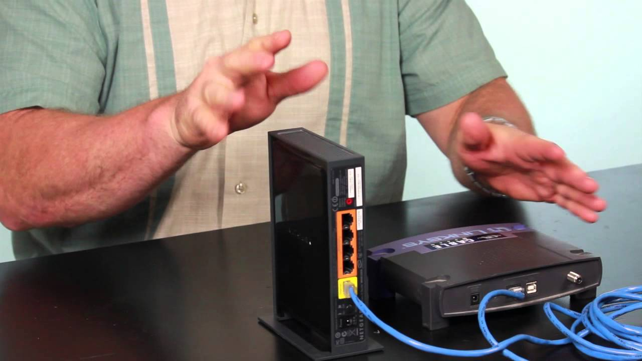 how to hook up a netgear wireless router to a cable modem tech vice youtube [ 1280 x 720 Pixel ]