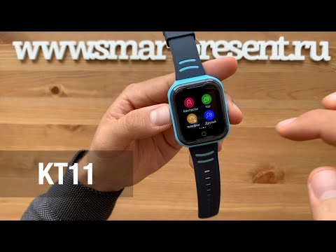 Детские часы-телефон C видеозвонком и 4G Smart Baby Watch КТ11 WONLEX
