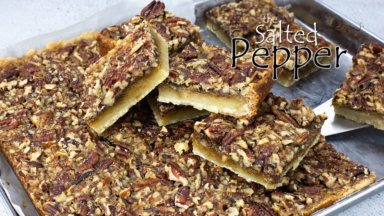 Skip the whole pie and make these delicious single serving size Pecan Pie Bars!