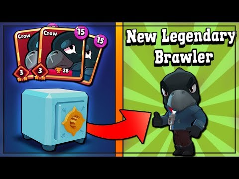WE OPENDED A LEGENDARY IN BRAWL STARS!! Legendary Crow Gameplay & x300 Brawl Box Opening!