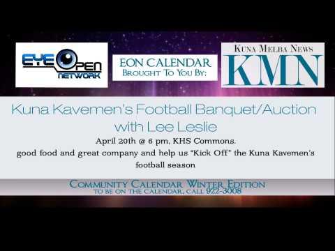 EON Community Calendar - Kuna Melba News - March Edition - WS