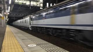 甲種輸送 EF65 2057号機+東京メトロ13000系(13108F) 野田新町駅通過