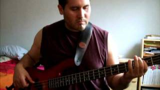 One slip - Pink floyd - bass solo - cover - Montreal Bassist