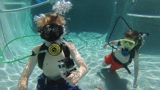 The boys 1st Scuba Dive
