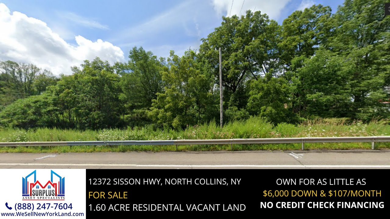 12372 Sisson Hwy, North Collins, NY - New York Land For Sale  - www.WeSellNewYorkLand.com