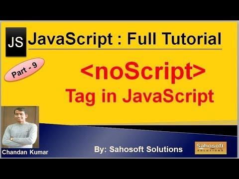 NoScript Tag In JavaScript | JavaScript Full Tutorial In Hindi