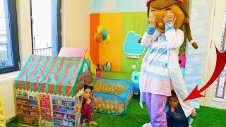 Doc McStuffins, Öykü and Masal Play Hide and Seek Funny Kids Video