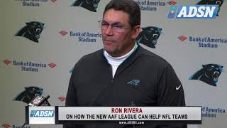 Carolina Panthers Head Coach Ron Rivera speaks out about AAF impact on the NFL