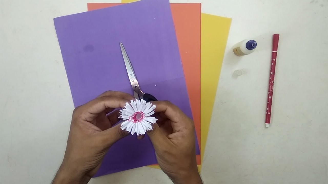 How To Make Paper Flowers For Kids Diy Paper Flowers Decoration