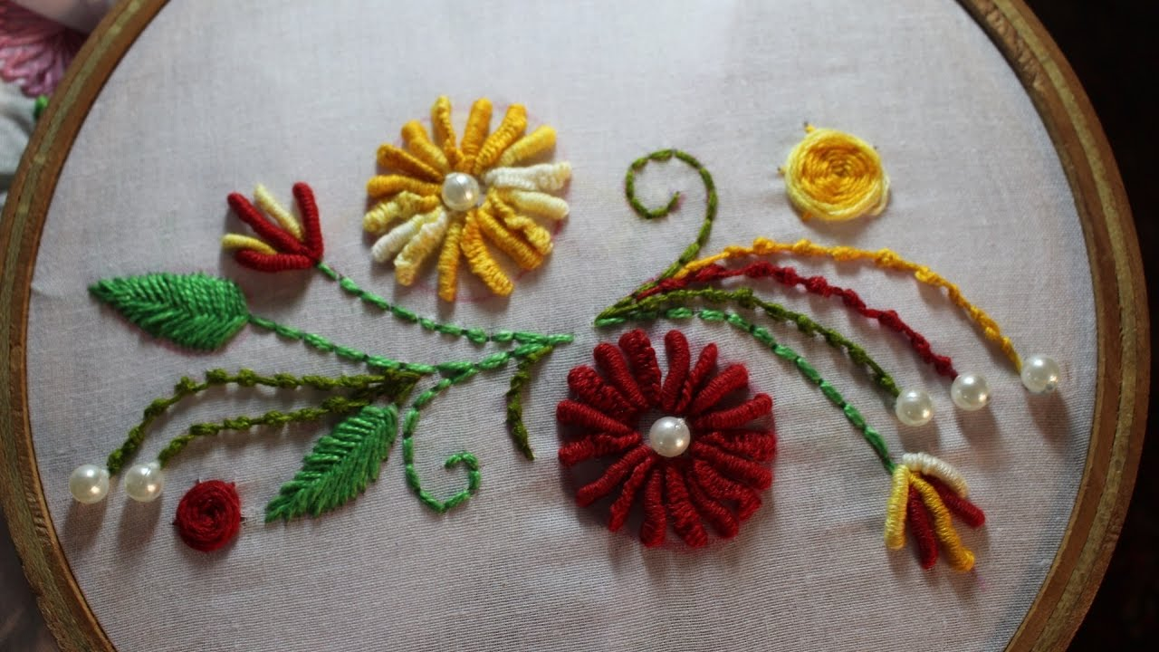 Hand Embroidery Designs Hand Embroidery Stitches Stitch And
