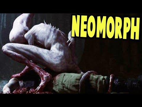 BABY NEOMORPH RIPS THROUGH HUMAN BACK FLAPS - Alien Utero