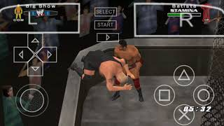 BEST MATCH EVER. BATISTA VS BIG SHOW HELL IN A CELL US TITLE. LEGEND MODE WWE 2006 PSP